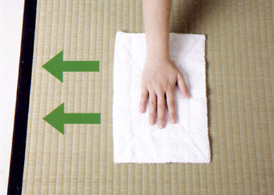 cleaning tatami mat