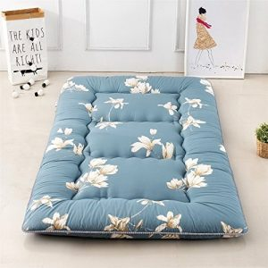 Colorful Mart Magnolia Flower Blue Futon Japanese Futon Mattress