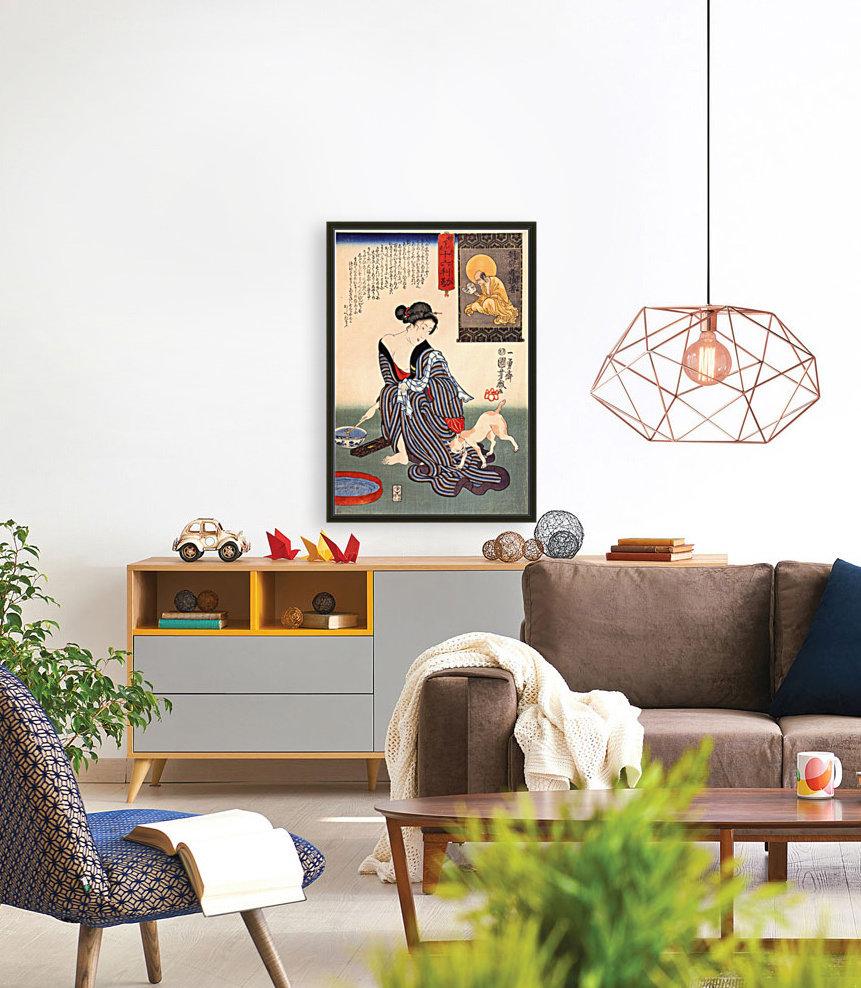 Utagawa Kuniyoshi Cats Woman readin