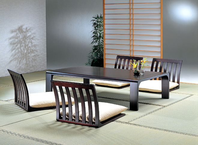 Japanese low chairs and table
