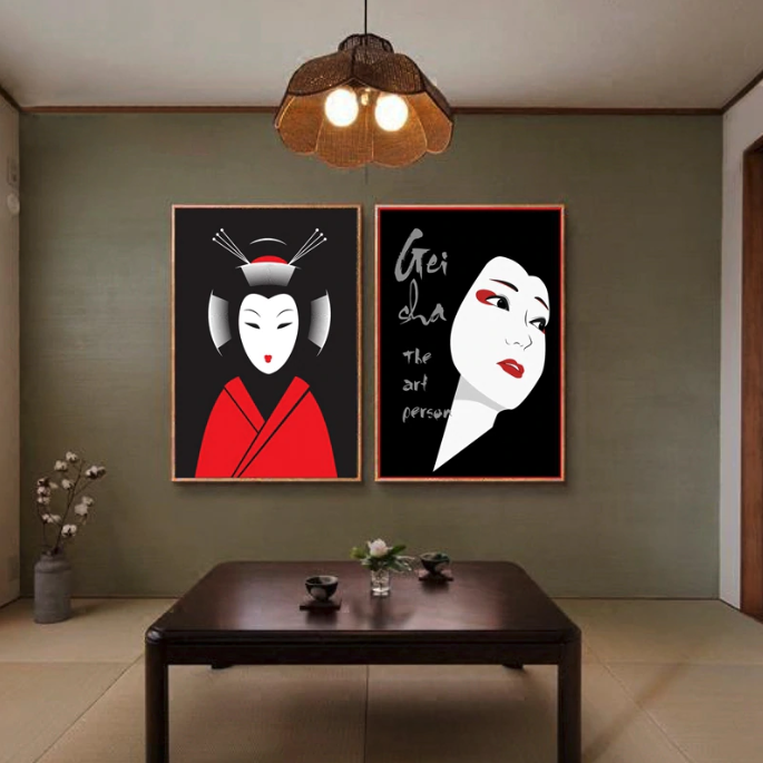 Modern & Traditional Japanese Paintings to Decorate a Home