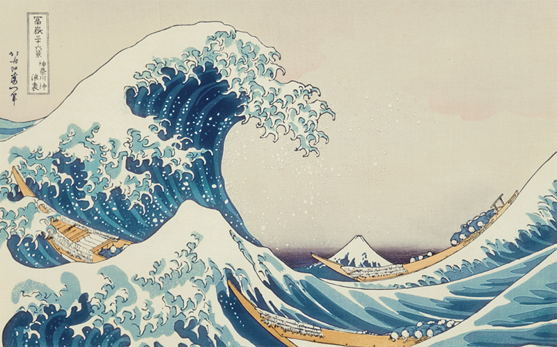 The Great Wave Off Kanagawa Painting art